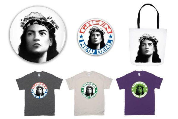 AOC / Green New Deal graphic t-shirts, totes, mugs and gifts