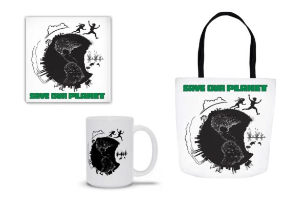 Save Our Planet, graphic t-shirts, totes, mugs and gifts